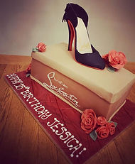 Christian Louboutin Shoe and Box Cake