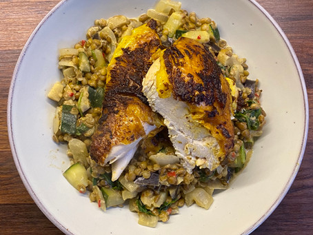Spiced Chicken and Lentils
