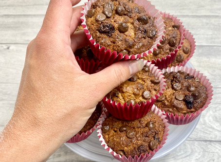 Banana Nut Butter Protein Muffins