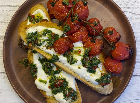 Sourdough Toast with Ricotta and Chimichurri