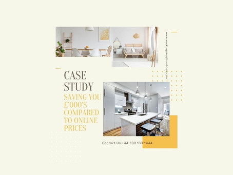 Case Study - Saving you £'000's compared to online prices