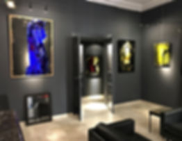Fine art gallery Saint Tropez french riv