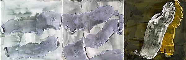 "Fine Art Gallery Saint Tropez Gianni Fasciani - Painting ""Tiburtines"" 100 x 33 cm"