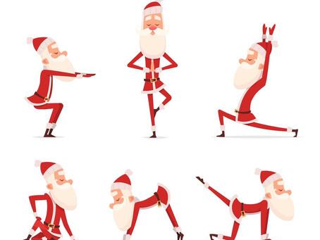 Le père Noël aime le hatha yoga traditionnel car il n'y a pas de compétition juste une philosophie