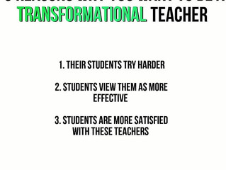 3 REASONS YOU WANT TO BE A TRANSFORMATIONAL TEACHER.