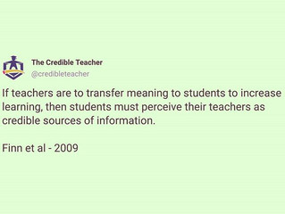 Credible teachers are experts at transferring information.