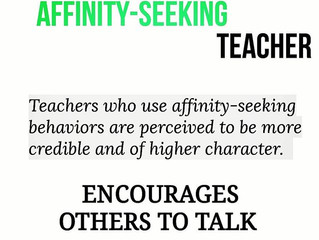 Credible teachers encourage others (students) to talk.