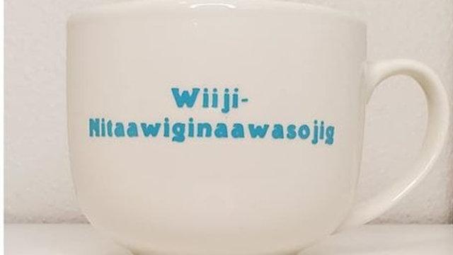 Wiiji-Nitaawiginaawasojig Logo Latte Mug