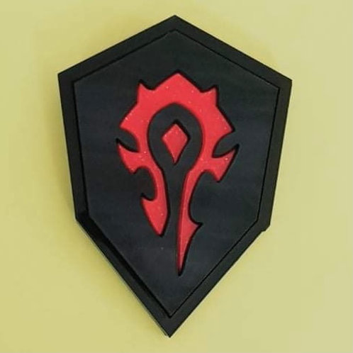 Warcraft Black Brooch