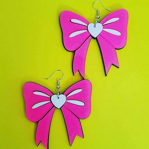 Earrings Pink Bow