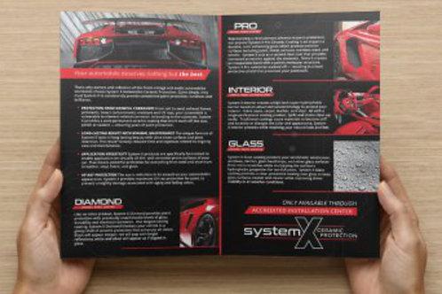 System X Automotive Brochures - 20 pack