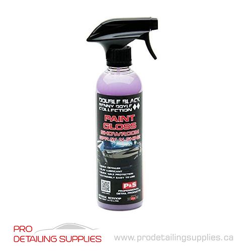 P&S Double Black Paint Gloss Showroom Spray N Shine - 16 oz