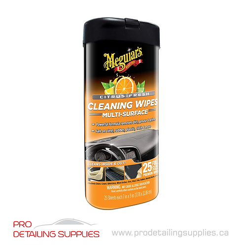 Meguiar's (G190600) Citrus Scent Multi-Surface Cleaning Wipes