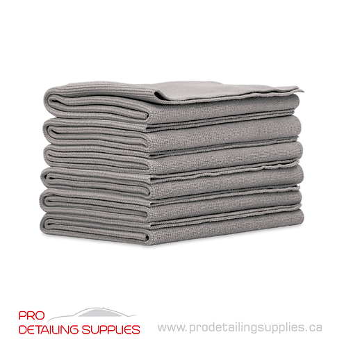 Griot's Garage (14901) Microfiber Edgeless Towels (Grey) - 6 pack
