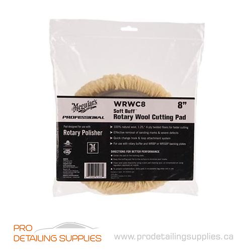 "Meguiar's (WRWC8) Soft Buff 8"" Rotary Wool Cutting Pad"