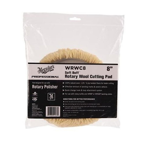 "Meguiar's 8"" Soft Buff Rotary Wool Cutting Pad"