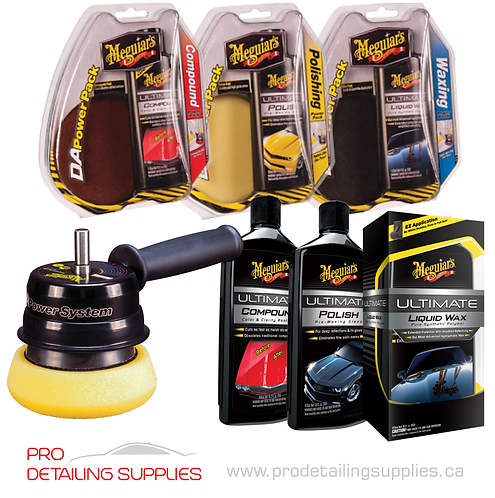 Meguiar's D/A Power System with Pads & Products Kit