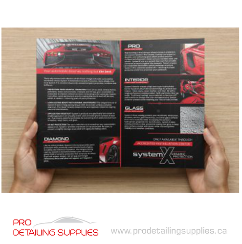 System X Automotive Brochures - 20 pack