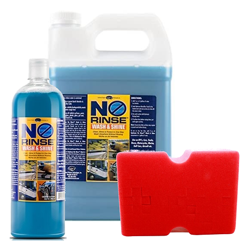 Optimum No-Rinse Wash & Shine with Big Red Sponge