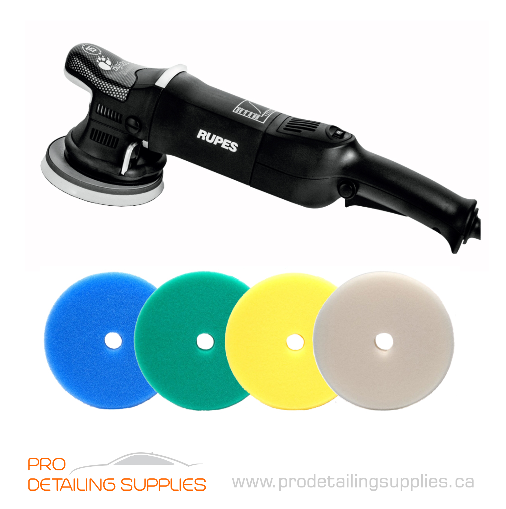 Rupes LHR 15 MARK III Polisher with Pads | prodetailingsupplies