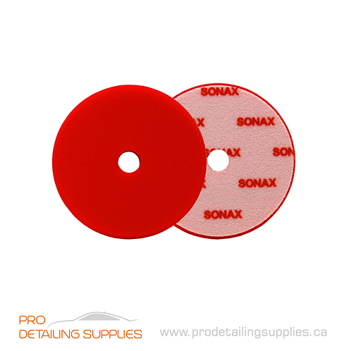 """Sonax (493400) Dual Action Red Cutting Pad - 143mm (5.6"""")"""