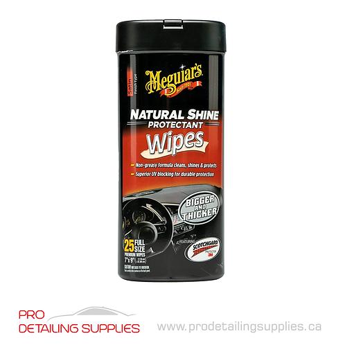 Meguiar's (G4100C) Natural Shine® Protectant Wipes - pk 25
