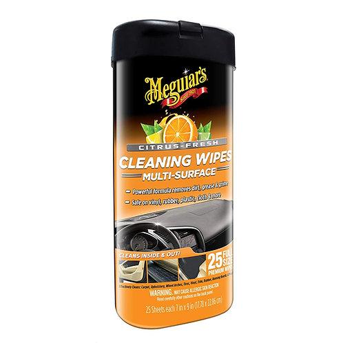 Meguiar's Citrus Scent Multi-Surface Cleaning Wipes