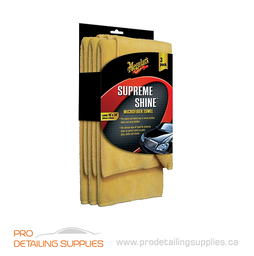 Meguiar's (X2020) Supreme Shine® Microfiber Towel - 3 pk