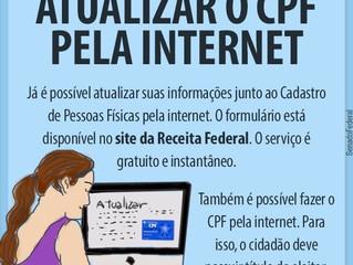 ATUALIZAR O CPF PELA INTERNET -                   SIMPLES, RÁPIDO E GRATUITO