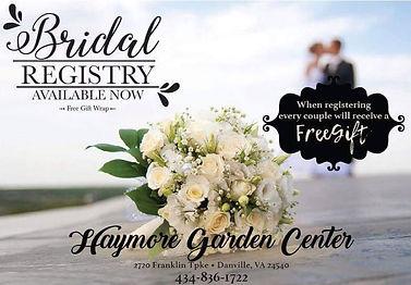 Haymore Garden Cente Bridal Registry