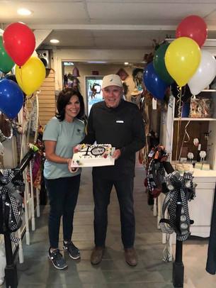 Wendy and Johnny celebrating Haymore GC's 40th birthday!