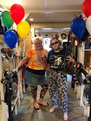 Amy and Emma celebrating 40 years!