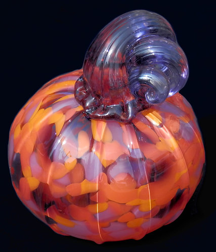 "Glass Pumpkin 4"" Blown"