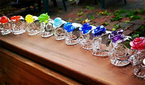 Sugar Skull Shot Glass -rose or bow