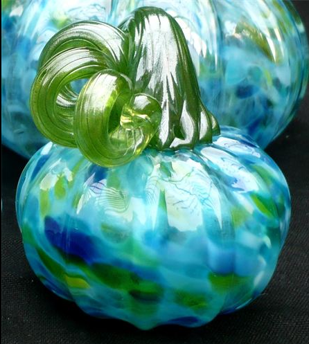 "Glass Pumpkin 3.5"" Blown"