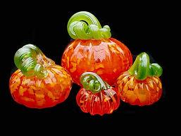 Handblown Glass Pumpkins