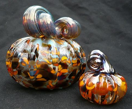 "7"" Blown Glass Pumpkin"