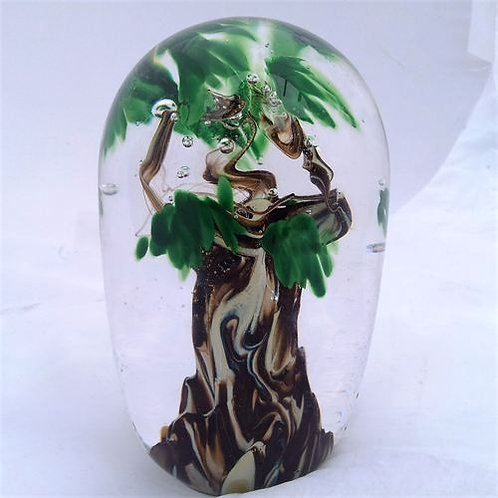 XL Summer Green Tree Paperweight