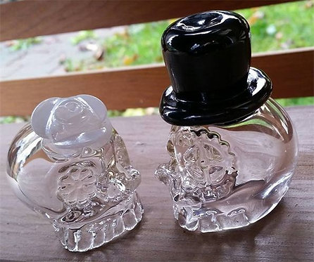 Sugar Skull Shot Glass Couple