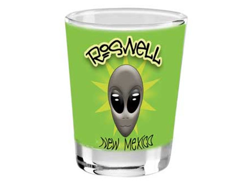 Alien Face Roswell NM Shotglass