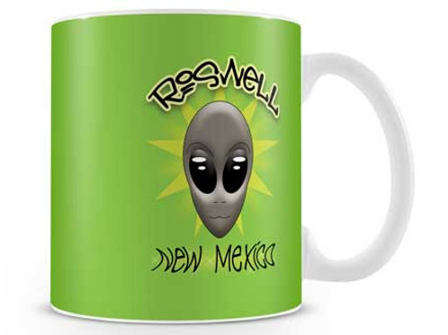 Green Star Roswell Alien Mug