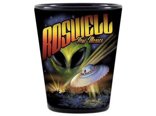 Black UFO Roswell Shotglass