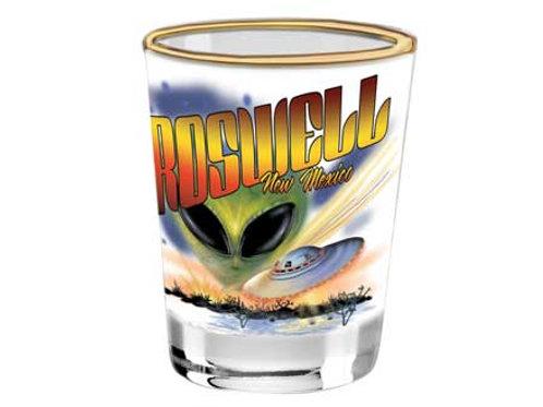 Roswell UFO shotglass
