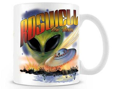 Roswell Alien & Ship Mug