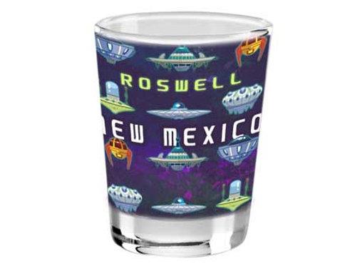 Roswell Flying Ships Shot Glass