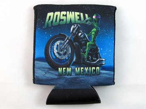 Alien Motorcycle Can Coozie