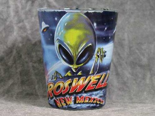 Roswell NM Creepy Alien Shotglass