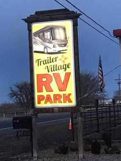 Trailer Village RV Park Sign