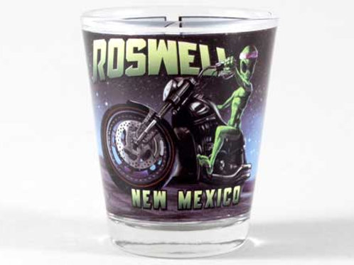 Alien Motorcycle Roswell Shot Glass