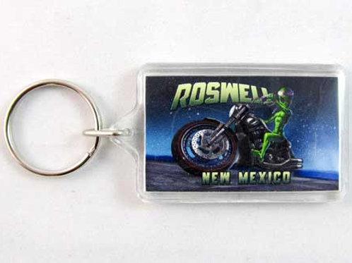 Alien Motorcycle Key Chain